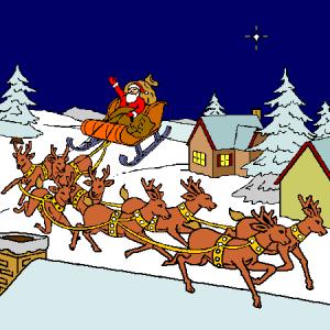 Traîneau du Père Noël via www.coloriage.tv