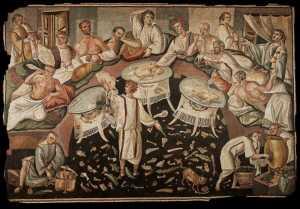 Banquet romain via www.amis-chassenon.org