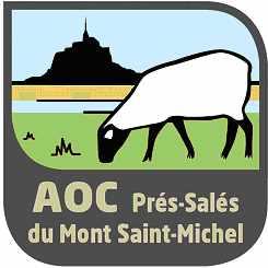 Logo AOC prés-salés du Mont Saint-Michel via gitesdegroupesmontsaintmichel.com