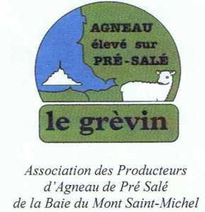Logo producteurs d'agneaux de pré-salé de la Baie du Mont Saint-Michel et de l'Ouest du Cotentin via www.agneaupresale.org