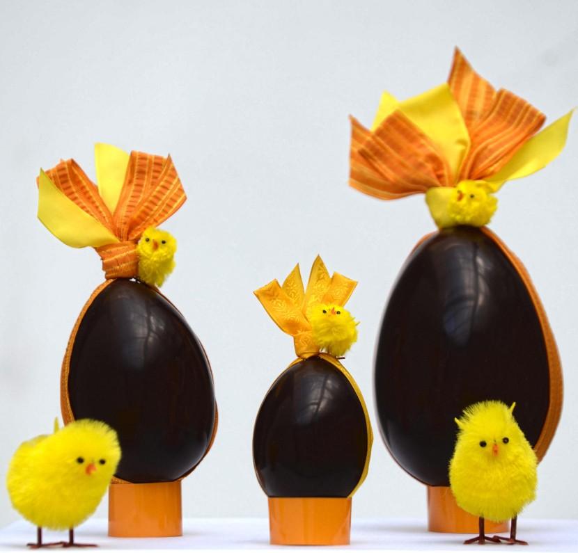Oeufs de Pâques avec poussins -Pâtisserie Jean Millet - © Serge Arnal