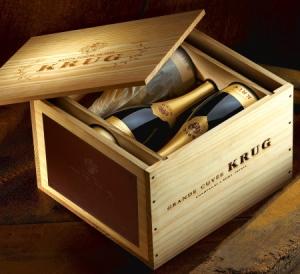 Caisse champagne Krug via forum-auto.com