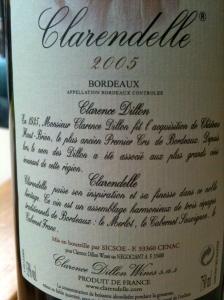 Clarendelle contre-étiquette © Blandine Vié