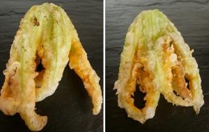 Fleurs de courgettes en tempura via blogs.cotemaison.fr