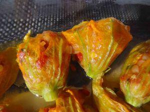 Fleurs de courgettes farcies via les recettes depierrette.com