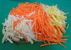 Julienne de légumes via aurelie51cuisine.canalblog.com
