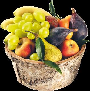 Panier de fruits via lespaniersdusquare.com