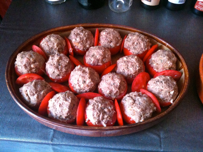 Tomates farcies à cru © Blandine Vié
