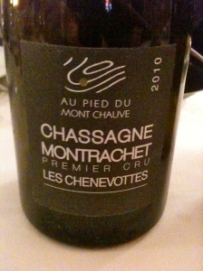 Chassagne Montrachet 1er cru Les Chenevottes 2010 © Blandine Vié