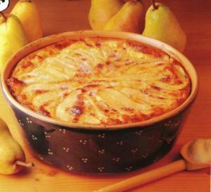 Flognarde aux poires via lesfoodies.com