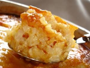 Gâteau de riz au caramel via delicesd'helene.canalblog.com