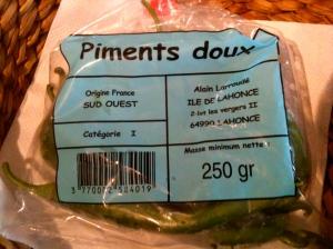 Poche de piments doux © Blandine Vié