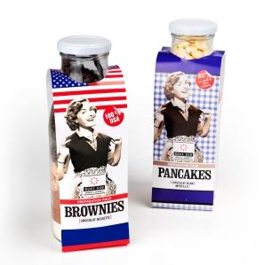 Préparations pour brownies et pancakes QS