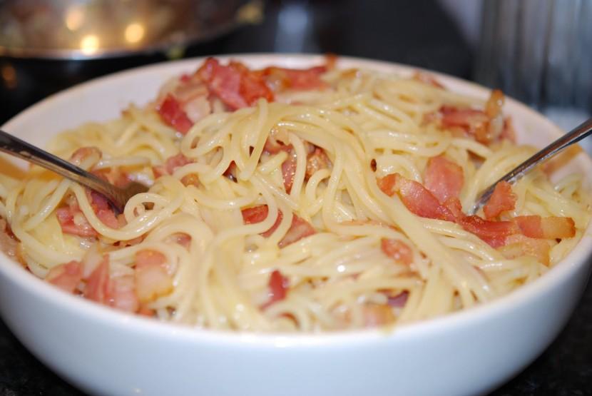 Spaghetti  carbonara via juicytitbit.com