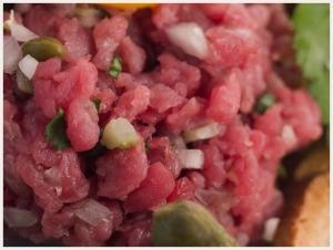 Tartare de bœuf classique via viande.com