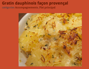 gratin dauphinois provençal via annecuisinechic.blogspot.fr