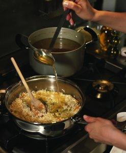 Lapin au chorizo en risotto