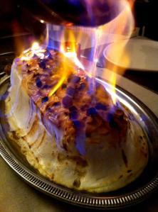 Omelette norvégienne flambée via foofreporter.fr