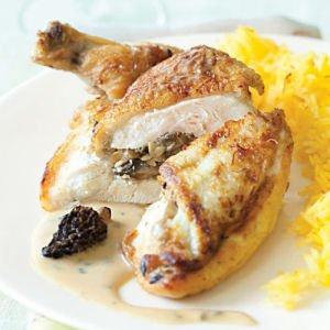 Suprêmes de poulet aux morilles via cuisine.journaldesfemmes.com