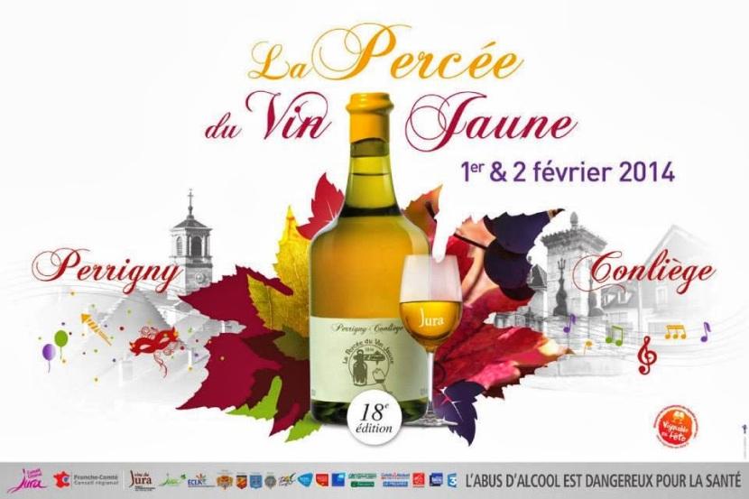 Affiche Percée du Vin Jaune via perceevinjaune2014.blogspot.com
