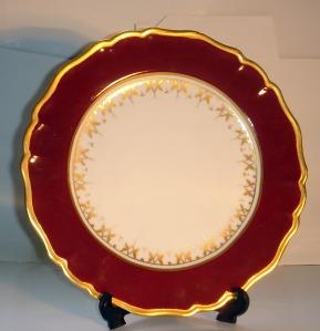 Assiette au marli pourpre de Cassius via dadi5.free.fr