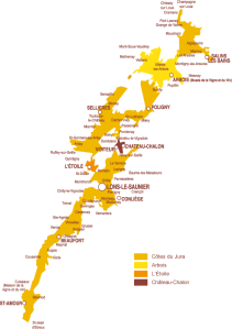 Carte-du-vignoble-du-jura via jura-vins.com