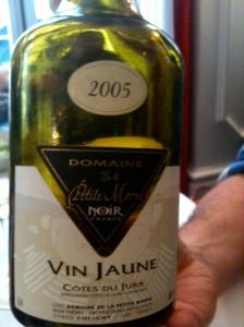 Côtes du Jura vin jaune ∂omaine de la Petite Marne 2005 ©Blandine Vié
