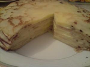 Gâteau de crêpes à la crèmepâtissière via oumanimellicuisine.over-blog.fr