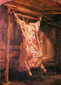 Bœuf écorché Rembrandt via devoir-de-philosophie.com