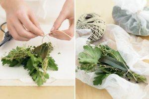 Faire un bouquet garni via taste.com