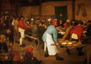 Le repas de noces de Brueghel via bruegel.pieter.free.fr