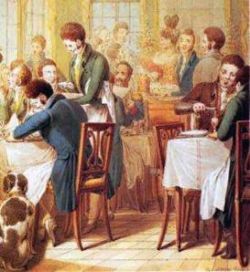 Restaurant au XIXe siècle via cuisinealafrancaise.com