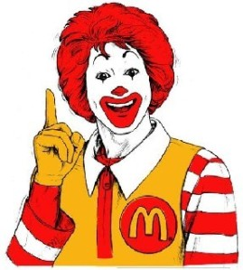 Ronald le clown McDonald via reflecritiques.com