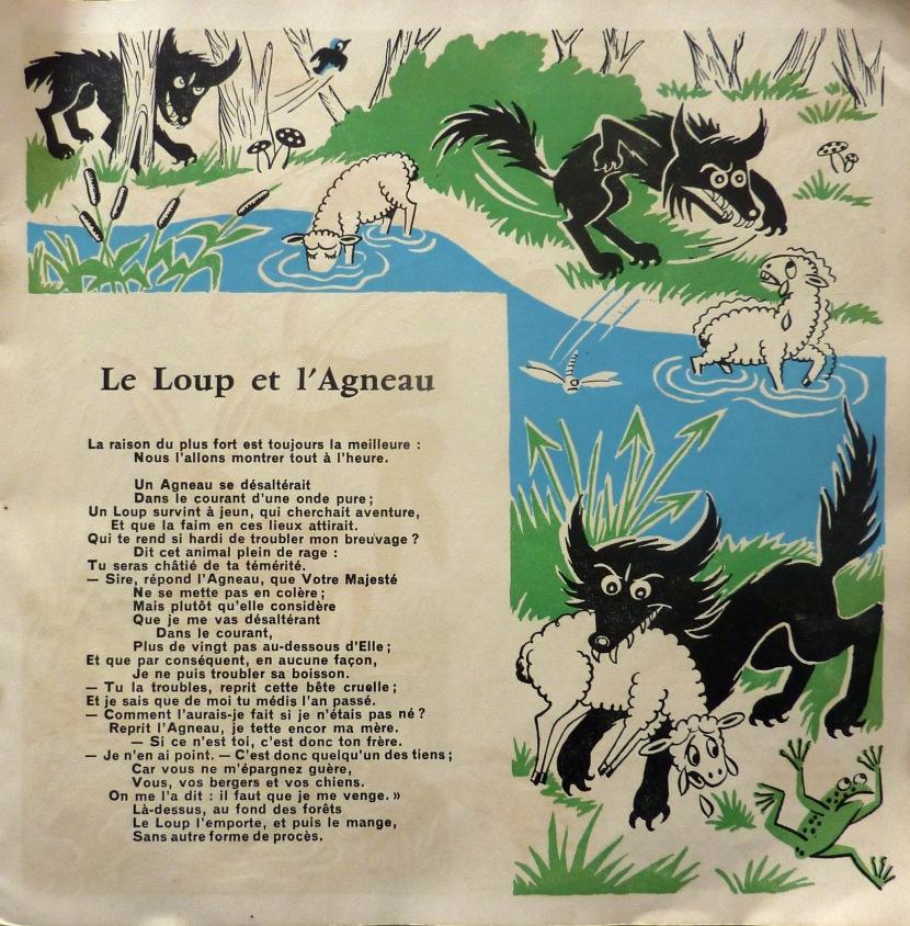 Le loup et l'agneau via grenierstemarie.blogspot.com