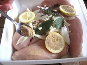 Marinade de poulet au vin blanc via agoji.com