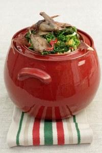 Palombe confite en salade tiède de chou © Pascal Rabot