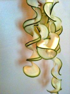 Spirales de courgettes © Greta Garbure