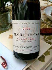 Beaune 1er cru Les 100 vignes 2008 Domaine Arnoux © Greta Garbure