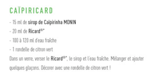 cocktail caïpiricard