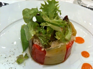 Chartreuse d'aubergine et poivron doux © Greta Garbure