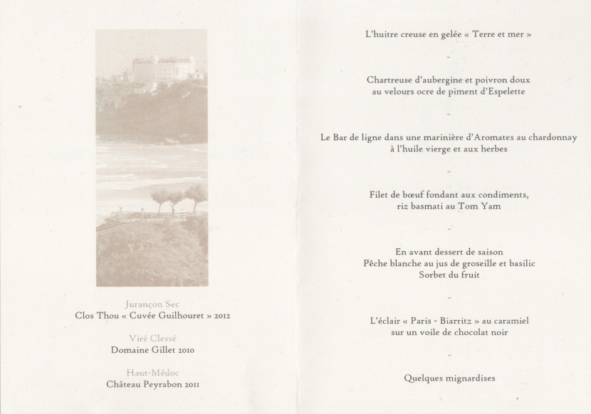 Menu du N° 1 by Georges
