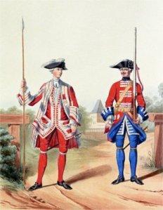 Gardes suisses 1757 par Marbot