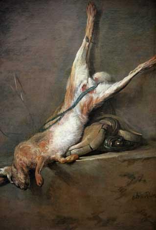 Lièvre mort par Chardin, musée du Louvre