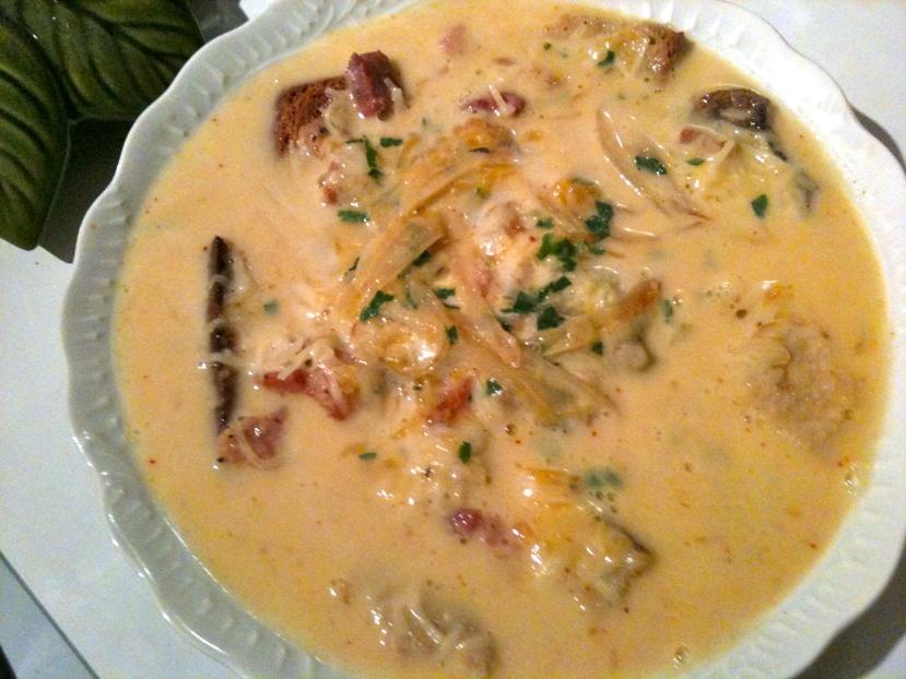 Assiette de soupe au potiron © Greta Garbure