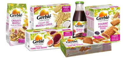 Les produits Gerblé via gerble.fr