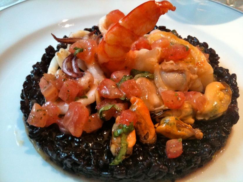 Riz noir aux fruits de mer © Greta Garbure