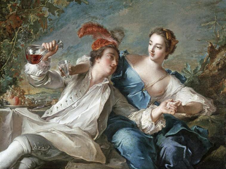 Les amoureux, Jean-Marc Nattier, 1744, Alte Pinakothek, Munich