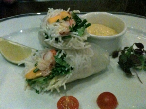 Lobster spring rolls © Greta Garbure