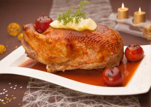 Oie d'Anjou rôtie aux pommes © Oie d'Anjou