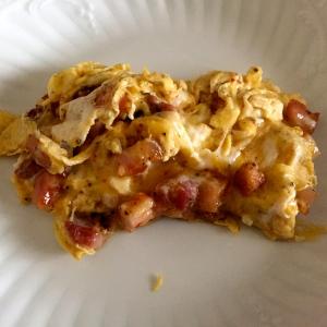 Omelette aux lardons bien troussée © Greta Garbure
